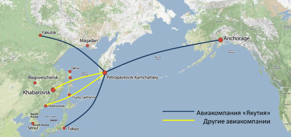 Yakutia Airlines resumes operation of flights to Alaska from Yakutsk through Kamchatka on July 11th