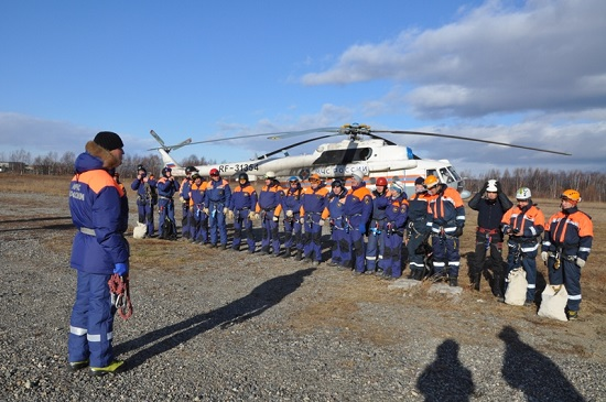 Kamchatka rescuers continue training