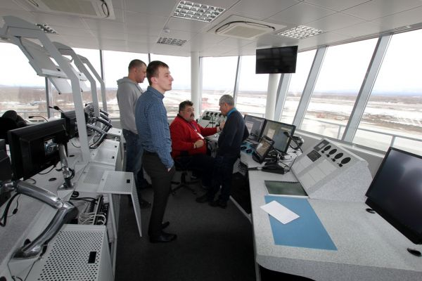 New air-traffic control tower in Elizovo airport