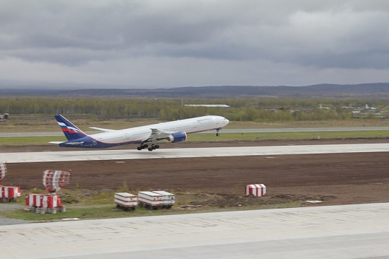 New runway in the main airport of Kamchatka