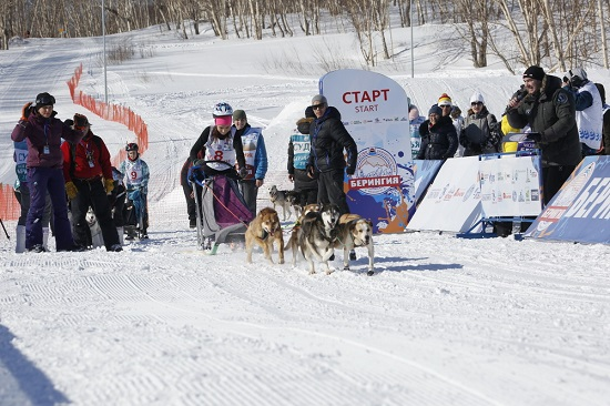 "Kids sled dog race ""Dulin"" in Kamchatka"
