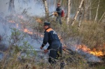 Kamchatka rescuers fight wild land fires