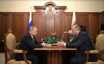 The President of Russian met with the Governor of Kamchatka Kray